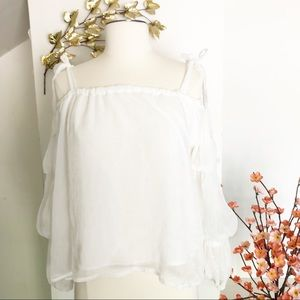 Romeo & Juliet Couture white off shoulder lace top